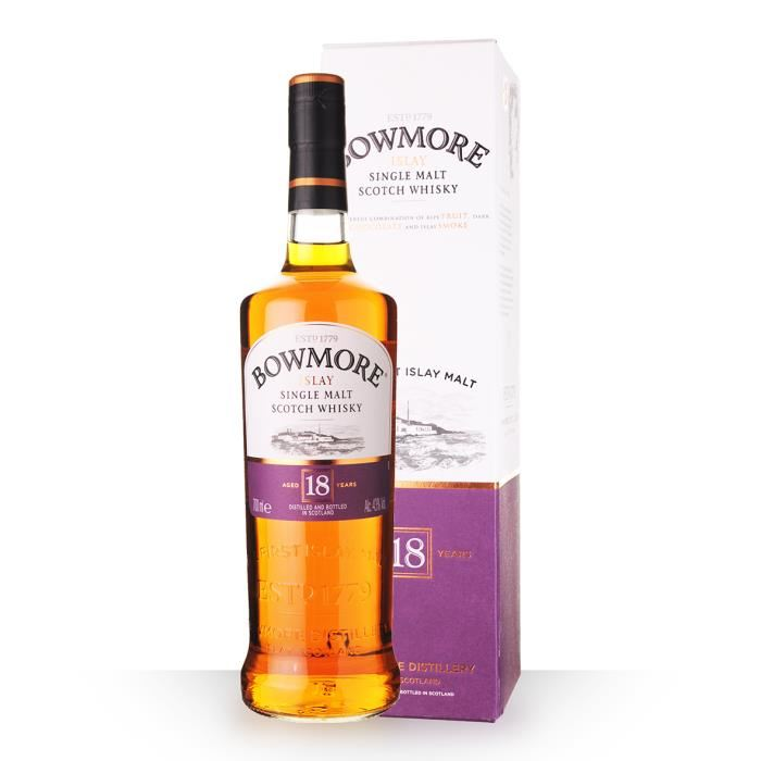 Whisky Malt Bowmore 18 yr 70 cl