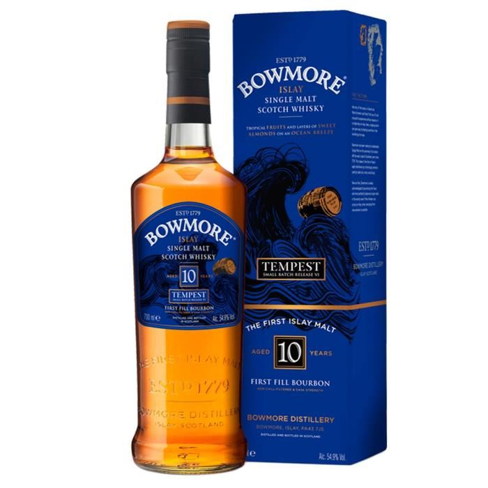 Whisky Malt Bowmore Tempest 10 yr 70 cl